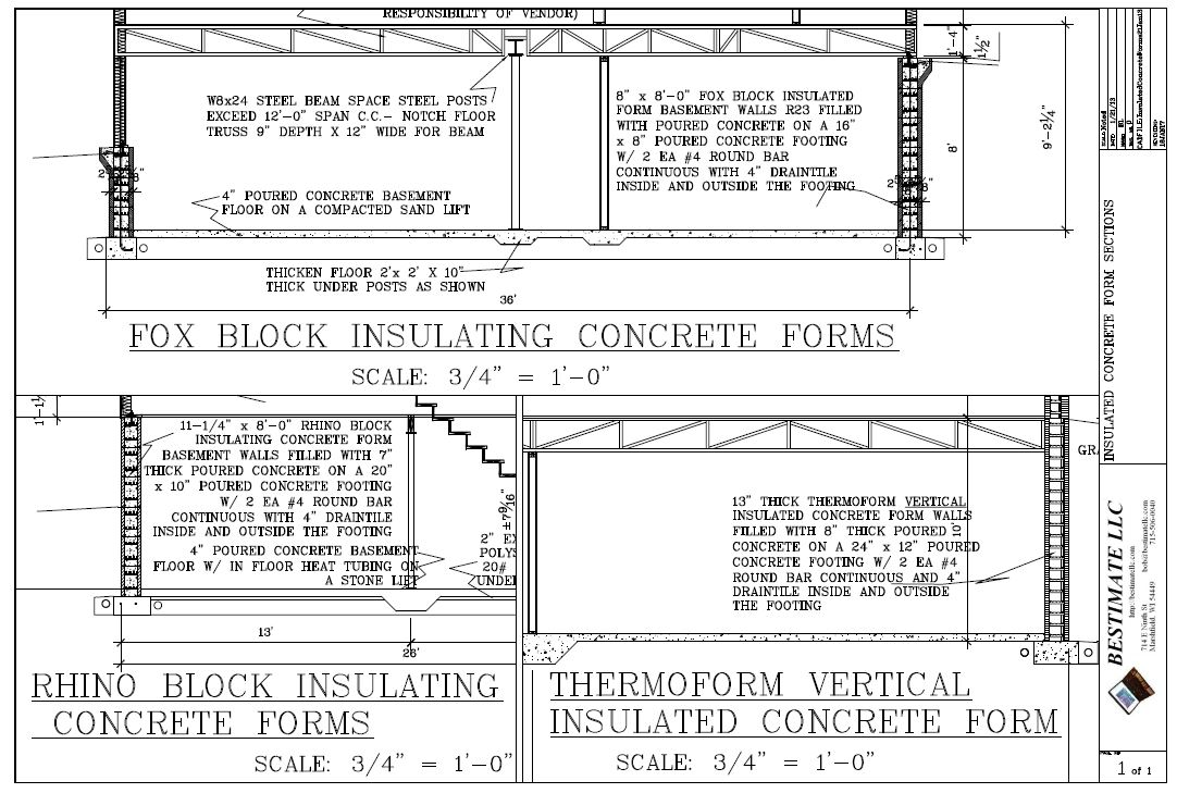Energy efficient bestimate llc for Concrete icf garage plans