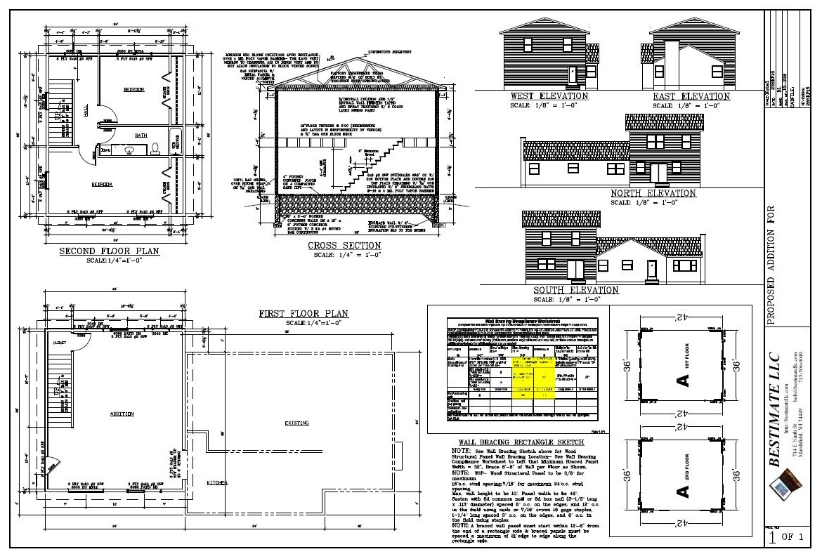 Residential bestimate llc for House plans with future additions
